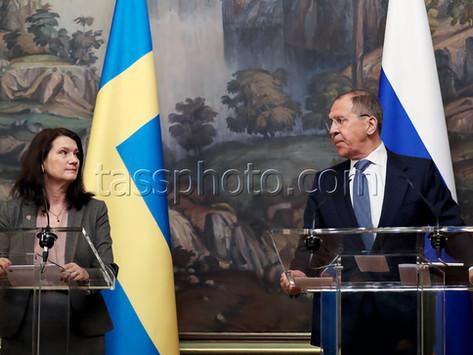 Möte mellan Utrikesministrar Sergej Lavrov och Ann Linde, 2 februari 2020