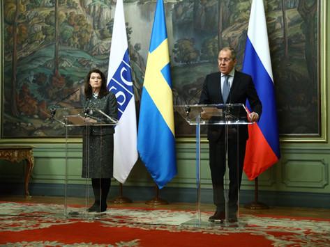 Möte mellan Utrikesministrar Sergej Lavrov och Ann Linde, 2 februari 2021