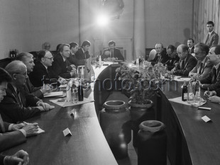 Sveriges utrikesminister Sten Andersson på besök i Sovjetunionen den 9 november 1989