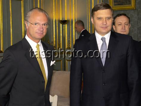 Ryska Federationens Premiärminister Michail Kasianov på besök i Sverige, den 25 april 2001