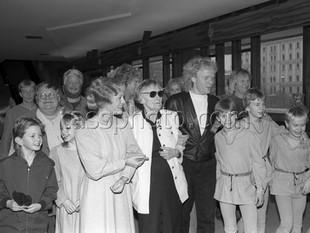 Författaren Astrid Lindgren i Moskva den 8 januari 1989