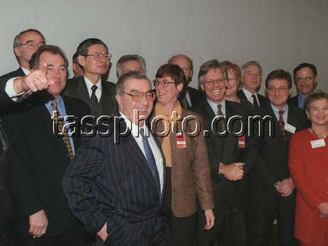Rysslands Utrikesminister Jevgenij Primakov på besök i Sverige 19-21 januari 1998