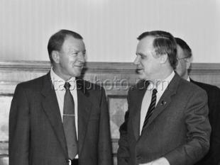 Presidenten för Volvo AB Pehr Gyllenhammar på besök i Sovjetunionen den 25 maj 1988