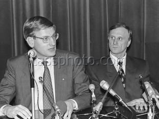 Sveriges statsminister Carl Bildt på besök i Ryssland den 29 november 1993