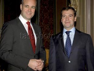Ryska Federationens President Dmitrij Medvedev besöker Sverige den 18 november 2009