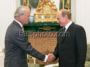 Kung Carl XVI Gustaf på besök i Ryssland den 14 juni 2007