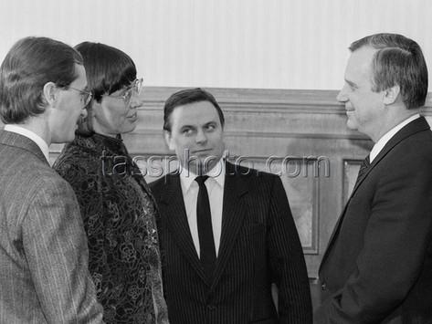 Sveriges energi- och miljöminister B. Dahl på besök i Sovjetunionen den 26 januari 1988
