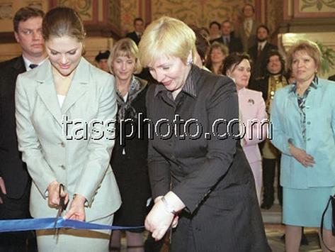"""Öppning av utställningen """"Örn och lejon"""" 4 april 2001"""