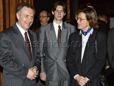 Sveriges utrikesminister Margaretha af Ugglas på besök i Ryssland den 19 april 1993