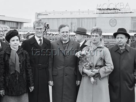 Sveriges statsminister Ingvar Carlsson på besök i Sovjetunionen den 14-15 april 1986