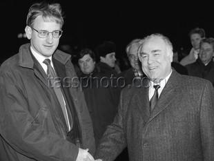 Sveriges statsminister Carl Bildt på besök i Ryssland den 3-8 februari 1993