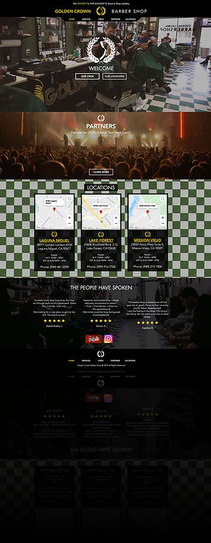 Golden Crown Barber Shop Website Homepage