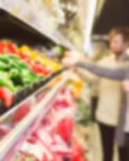 Dans le supermarché