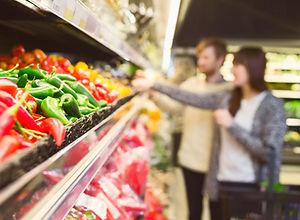 In de supermarkt