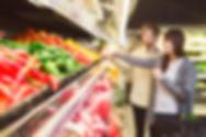 スーパーマーケットで