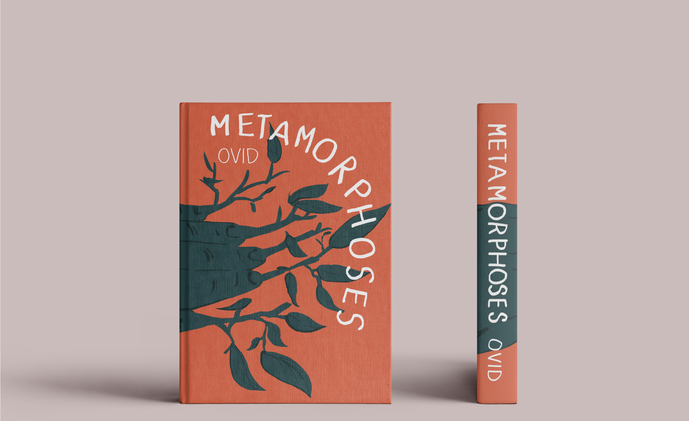Hardbound front and side book cover mockup