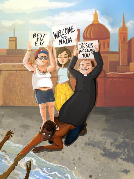 Racism illustration