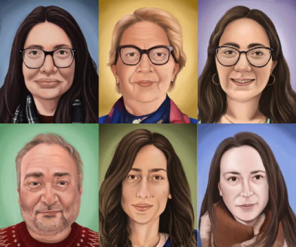 All 6 portraits