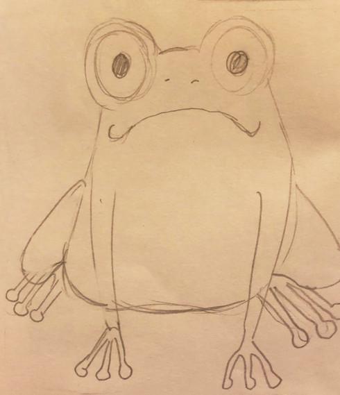 Initial frog sketch