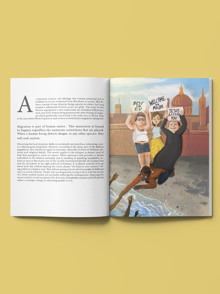 Article and illustration mockup