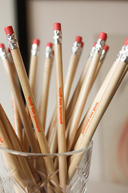 matita personalizzata poivorrei una gioia