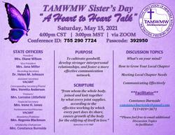 TAMWMW - 2021 Sisters Day FLYER