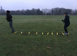 When it's snowing we are still training!