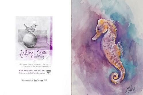 Gift Card - watercolour seahorse