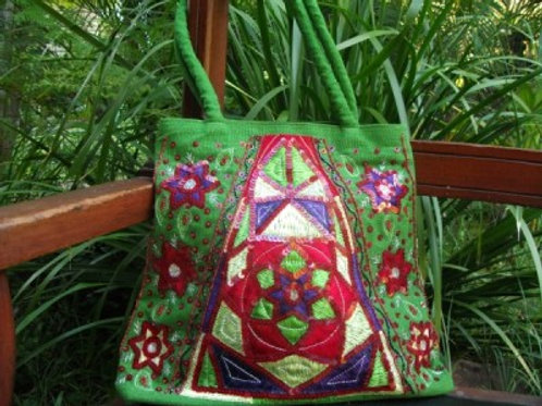 Royal design embroidered bag