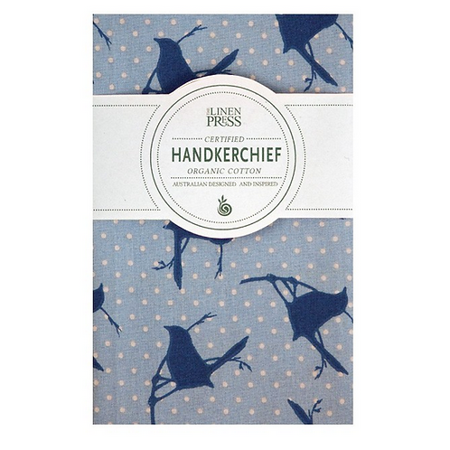 Organic Handkerchief Blue Wren