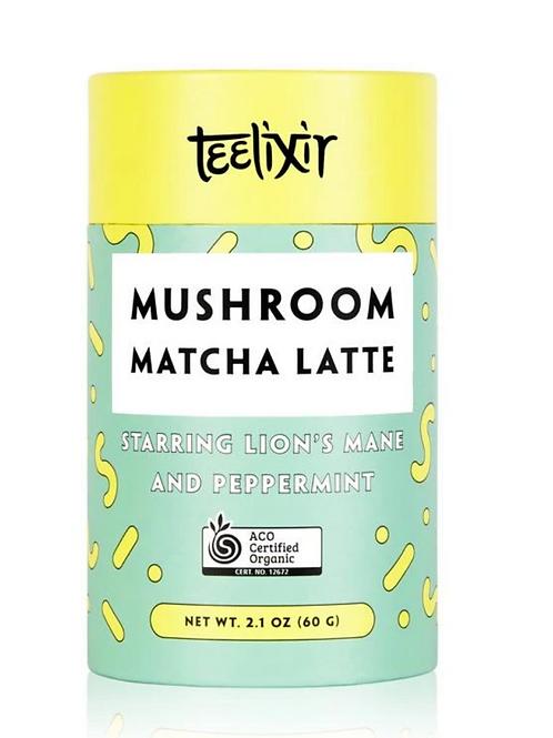 Mushroom Matcha Latte with Lion's Mane