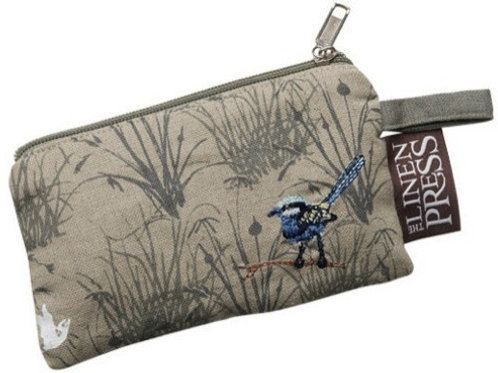 Organic Purse Blue Wren