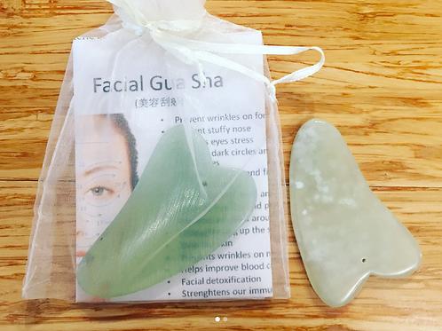 Gua Sha facial stone - small jade