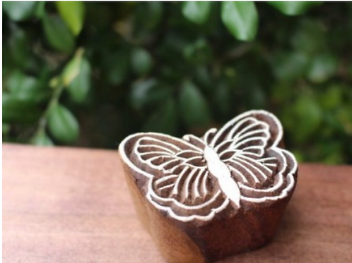 Blockprint Stamp Butterfly