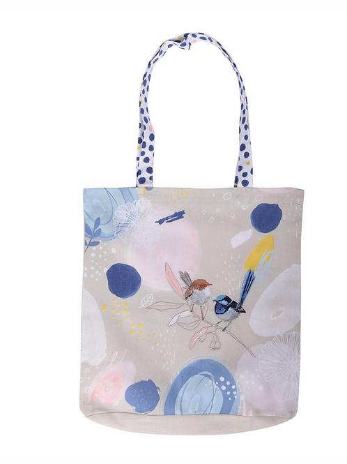 Wild Blue Wren – Pastel – Tote Bag