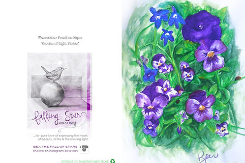 Gift Card- watercolour violets