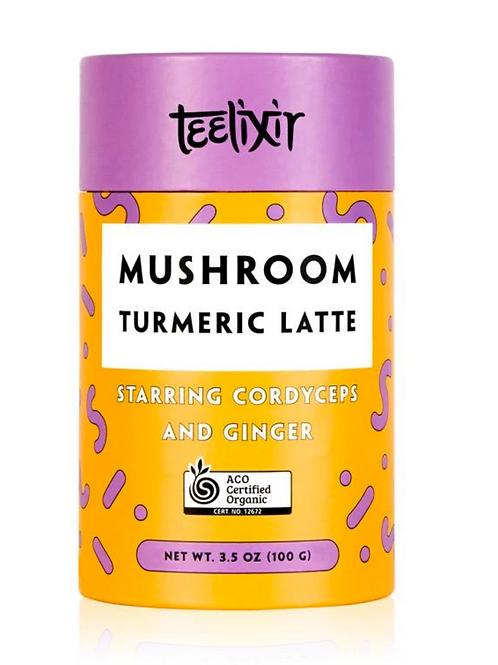 Mushroom Turmeric Latte with Cordyceps