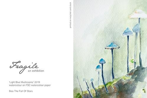 Gift Card - Light Blue Mushrooms