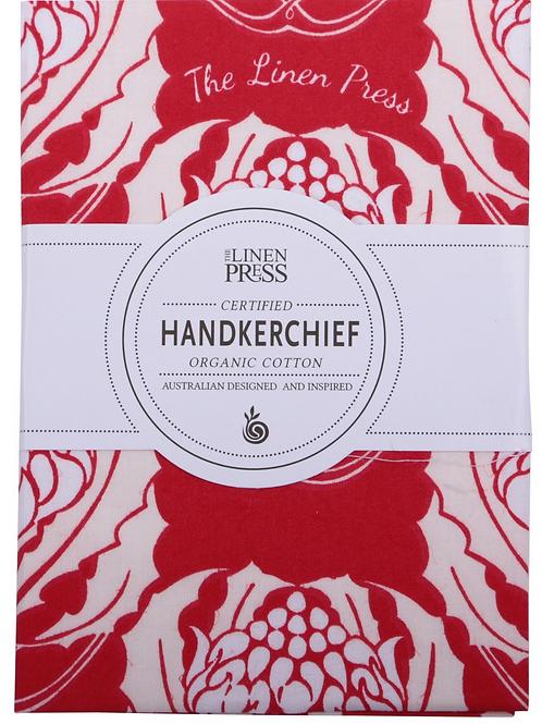 Organic Handkerchief Waratah