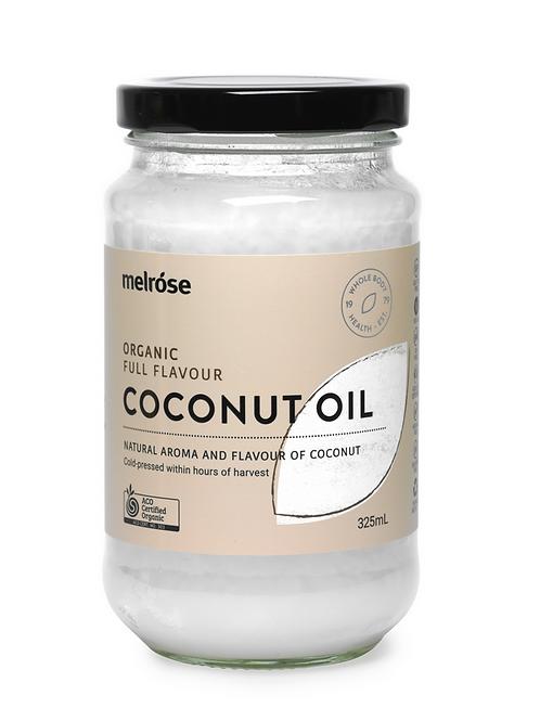 Melrose Organic Full Flavour Coconut Oil 325mls