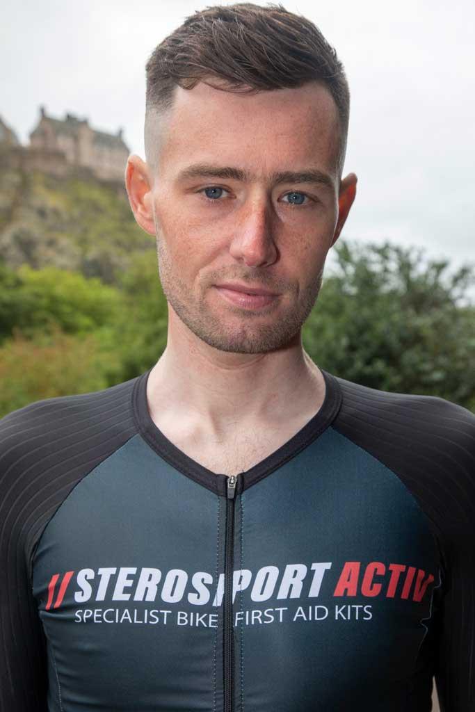 Josh wearing Sterosport Activ skin suit