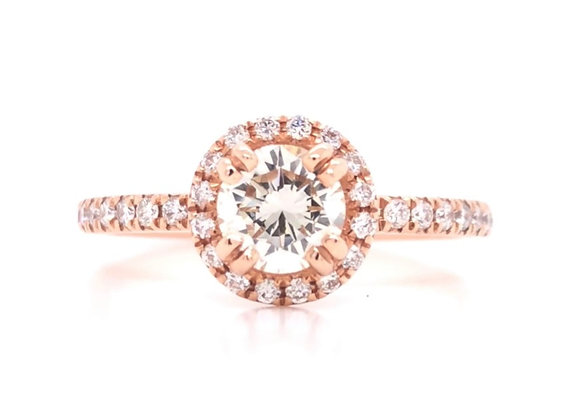 14k Rose Gold 1.0ct Diamond Ring Appraised $4120