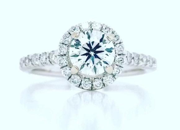 14k White Gold 1.22 ct Diamond Ring Appraised $7910