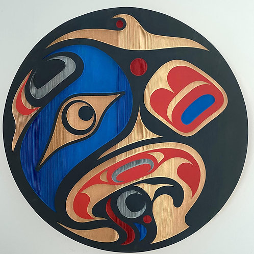 "copy of NORTHWEST COAST First Nations 24"" Sandblasted Orca Panel"