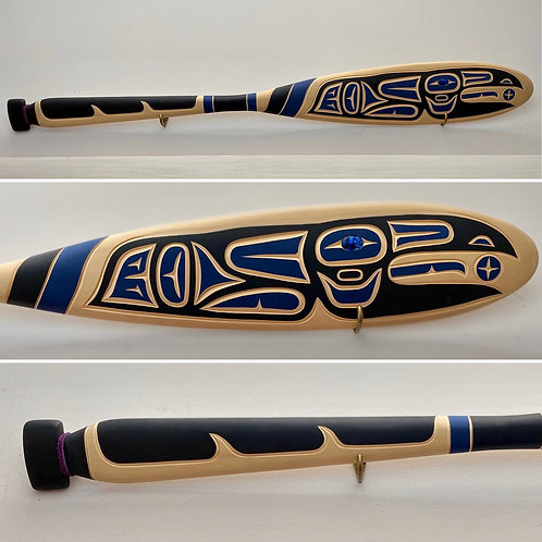 NORTHWEST COAST First Nations 5ft Paddle, Oar by Harvey John, Nuu-chah-n