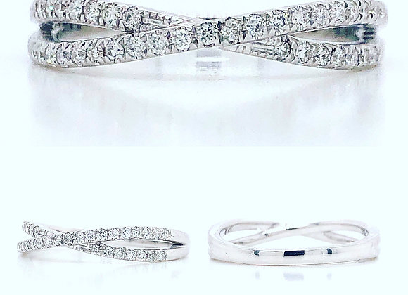 14k White Gold Matching Wedding Band 0.18cts Appraised $1050