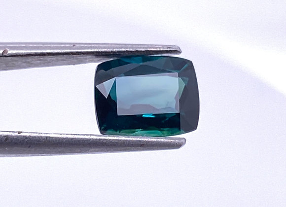 Loose- 1.48ct Natural Blue Sapphire, IF Clarity, Cushion Shape (6.7 x 5.4mm)