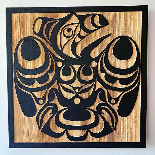 "CUSTOM DESIGN Nortwesth Coast First Nations 24"" Sandblasted Cedar Rave"