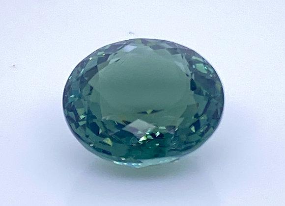 Loose- 12.09ct Natural Green Tourmaline, Internally Flawless