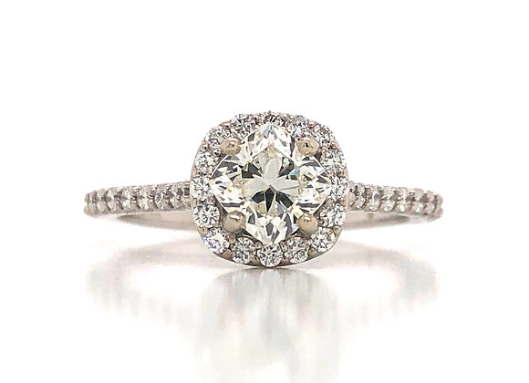 New- 14k White Gold 1.32 tcw Diamond Engagement Ring Appraised $5580